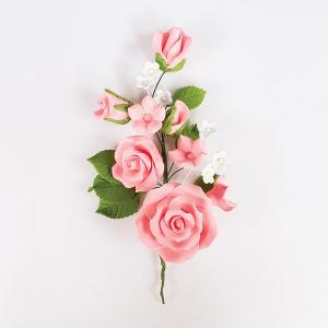 Culpitt Gum Paste Flower - Rose Spray - Pink