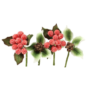 House of Cake Mini Sugar Flower Sprays - Frosted Berries (4 Piece)