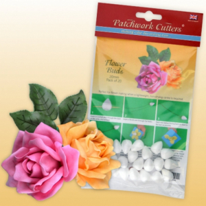 Patchwork Cutters - Flower Buds - 20mm (Pack of 20)