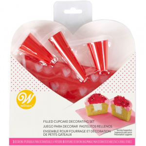 Wilton Filled Cupcake Decorating Set - Valentine (11 Pieces)