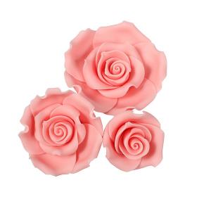 Culpitt SugarSoft Roses - Light Pink - Assorted Sizes (Box of 12)