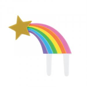 Culpitt Gumpaste Decoration - Rainbow Shooting Star Cake Topper Pic