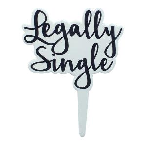 "Culpitt Gumpaste Decoration - ""Legally Single"" Cake Topper"