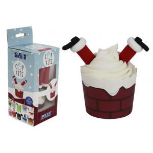 PME Cupkits - Cupcake Decorating Kit - Santa In Chimney
