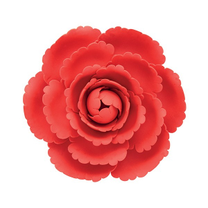 Culpitt Gum Paste Flower - Peony - Red - 101mm