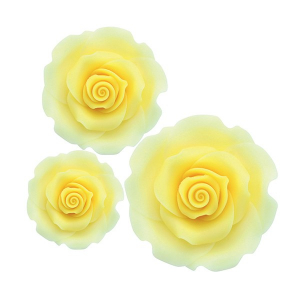 Culpitt SugarSoft Roses - Ombre Yellow - Assorted Sizes (Box of 12)
