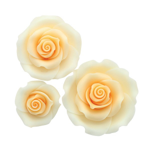 Culpitt SugarSoft Roses - Ombre Peach - Assorted Sizes (Box of 12)