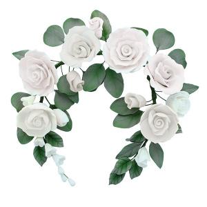 Culpitt Gum Paste Flower - Rose Crown - White