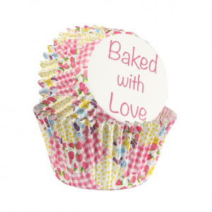 Baked With Love Foil Lined Baking Cases - Patchwork (Pack of 25)