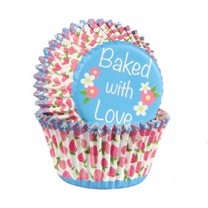 Baked With Love Foil Lined Baking Cases - Rosebud (Pack of 25)
