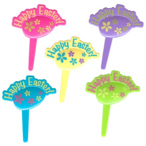 Culpitt Cake Pick Decorations - Happy Easter Eggs (Pack of 144)