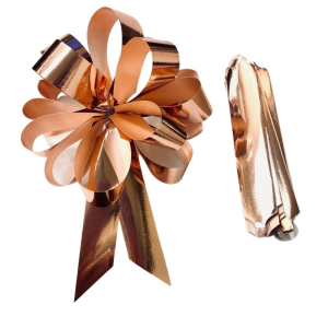 Purple Cupcakes Quick Pull Bow - Rose Gold