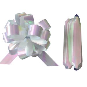 Purple Cupcakes Quick Pull Bow - Iridescent