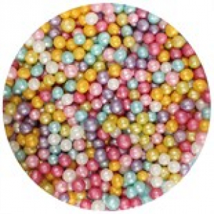Purple Cupcakes Shimmer Pearls - Multi Coloured (80g)
