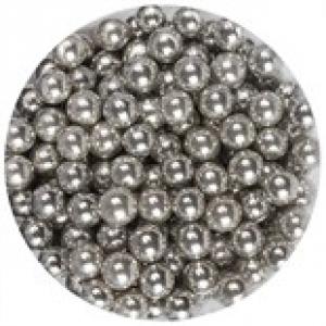 Purple Cupcakes 6mm Sugar Pearls - Silver (100g)