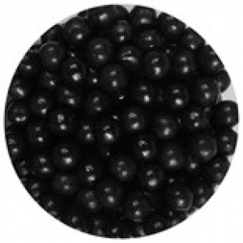 Purple Cupcakes 7mm Sugar Pearls - Black (90g)