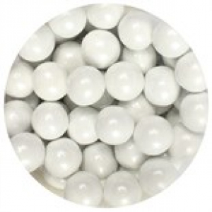 Purple Cupcakes 10mm Sugar Pearls - Pearl White (80g)