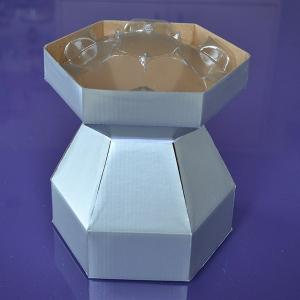 Purple Cupcakes - Cupcake Bouquet Box - Silver
