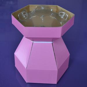 Purple Cupcakes - Cupcake Bouquet Box - Pink