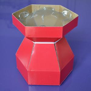 Purple Cupcakes - Cupcake Bouquet Box - Red