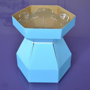 Purple Cupcakes - Cupcake Bouquet Box - Blue
