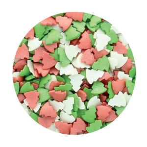 Purple Cupcakes Sprinkles - Glimmer Christmas Tree Mix (60g)