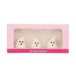 FunCakes 3D Sugar Decorations - Ghosts (Pack of 3)