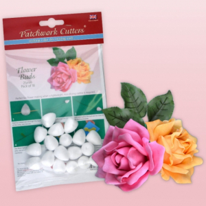 Patchwork Cutters - Flower Buds - 25mm (Pack of 18)