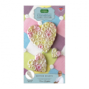 Katy Sue Designs Mould - Creative Cake System - Button Heart