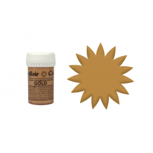 Sugarflair Satin Paste Concentrate - Gold (25g)