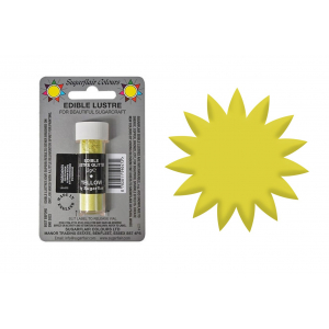 Sugarflair Edible Lustre Glitter - Yellow (2g)
