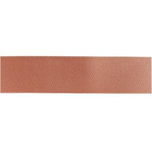 Culpitt Double Faced Satin Ribbon - Rose Gold - 25mm x 20m