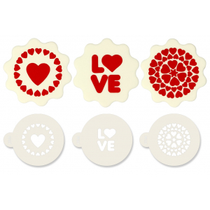 Jem Stencil - Love (Set of 3)