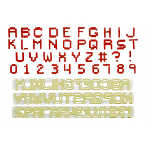 FMM Cutter Set - Alphabet Upper Case & Number - PIXEL