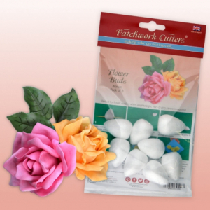 Patchwork Cutters - Flower Buds - 40mm (Pack of 8)