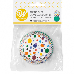 Wilton Baking Cases - Geometric Print & Solid Green (Pack of 75)