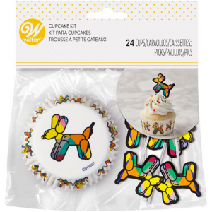 Wilton Cupcake Case And Pick Set - Balloons Dogs (Pack of 24)
