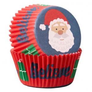 Wilton Baking Cases - Believe Santa (Pack of 75)