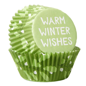 Wilton Baking Cases - Warm Winter Wishes (Pack of 75)