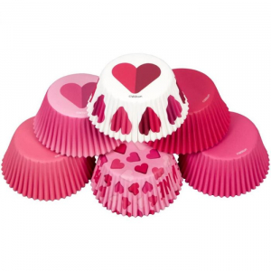 Wilton Baking Cases - Valentine Be Mine / Hearts Collection (Pack of 150)