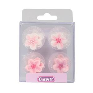 Culpitt Sugar Pipings - Brushed Flowers - Pink (Pack of 12)