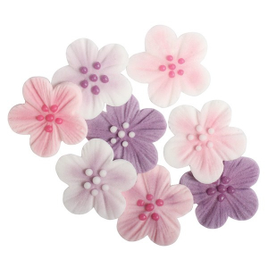 Culpitt Piped Sugar Flowers - Brushed Flowers - Assorted (Box of 288)