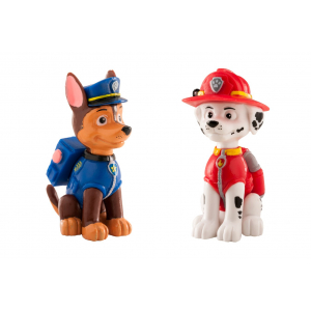 Dekora Figures - Paw Patrol - Chase & Marshall