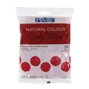 PME Natural Colour Candy Buttons - Red (200g)