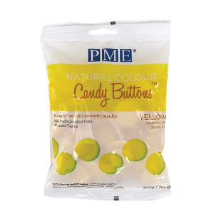 PME Natural Colour Candy Buttons - Yellow (200g)