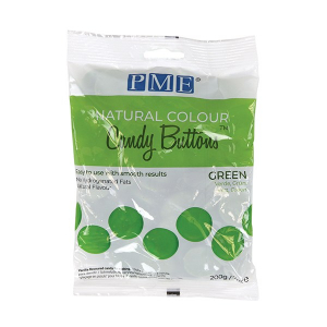 PME Natural Colour Candy Buttons - Green (200g)