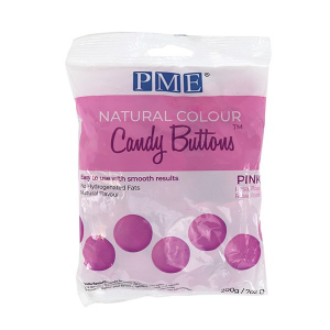 PME Natural Colour Candy Buttons - Pink (200g)