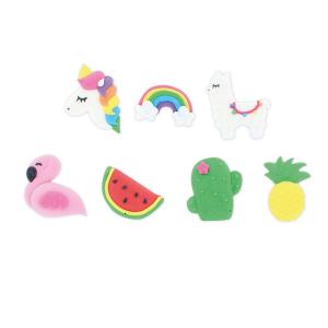 Culpitt Handmade Sugar Decorations - Magical Unicorn & Fiesta Collection (Pack of 81)
