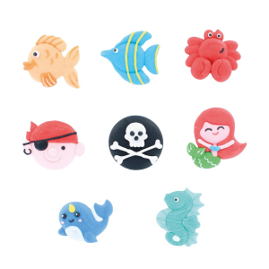 Culpitt Handmade Sugar Decorations - Under The Sea Collection (Pack of 72)