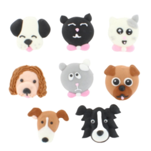 Culpitt Handmade Sugar Decorations - Cats & Dogs Collection (Pack of 80)